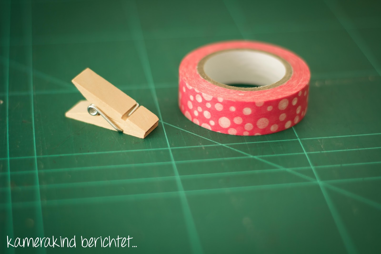 Perfekte Kombination: Holzklammern und Washi Tape