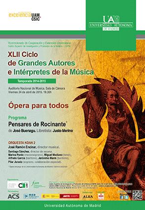 José Buenagu, Pensares de Rocinante, Literaturas Hispánicas UAM