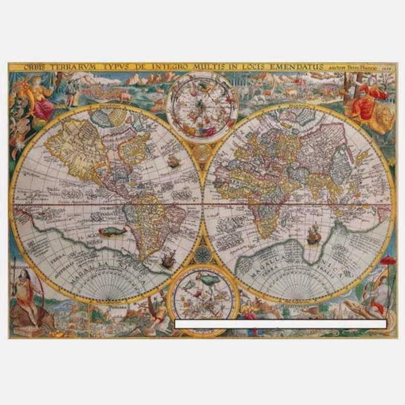Ravensburger World Map Jigsaw Puzzle. Ravensburger 1500 Pieces Jigsaw puzzle World Map 1594 Enjoy smart world