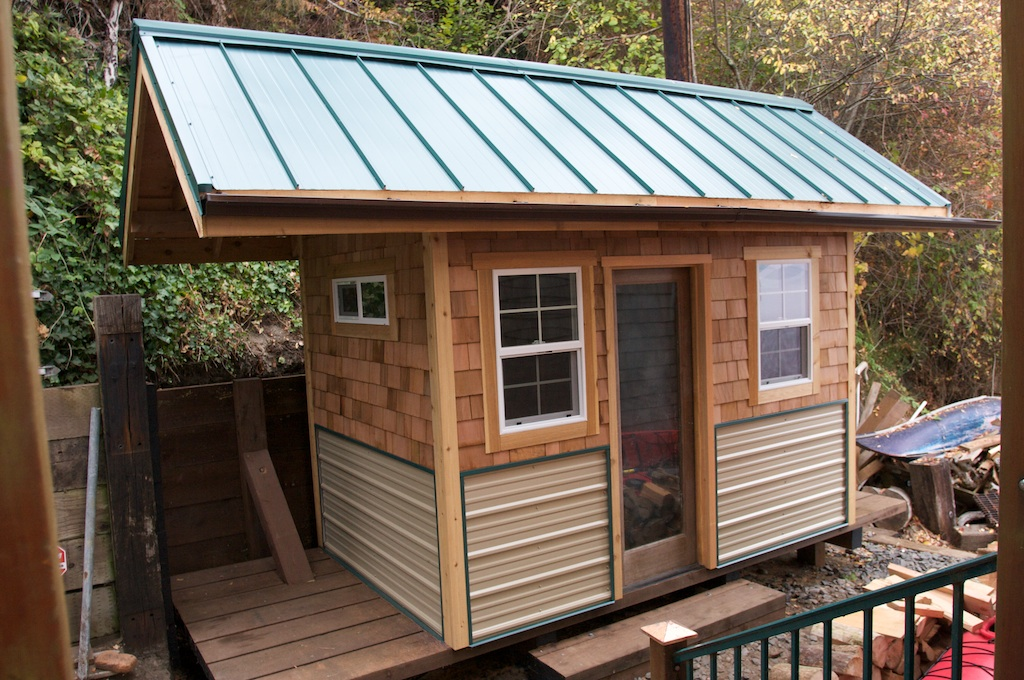 I love metal roofs for Shed roofing