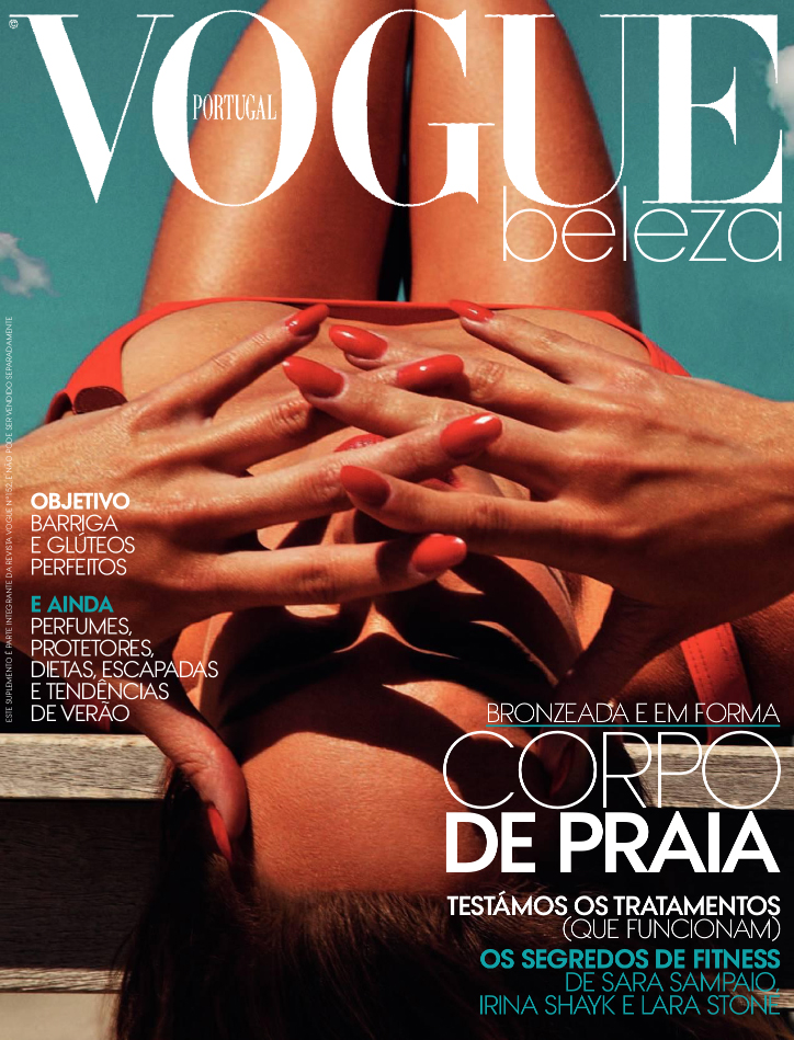 Vogue Beauty Cover- Vogue Portugal with model Vanessa Perron, Jamie ...