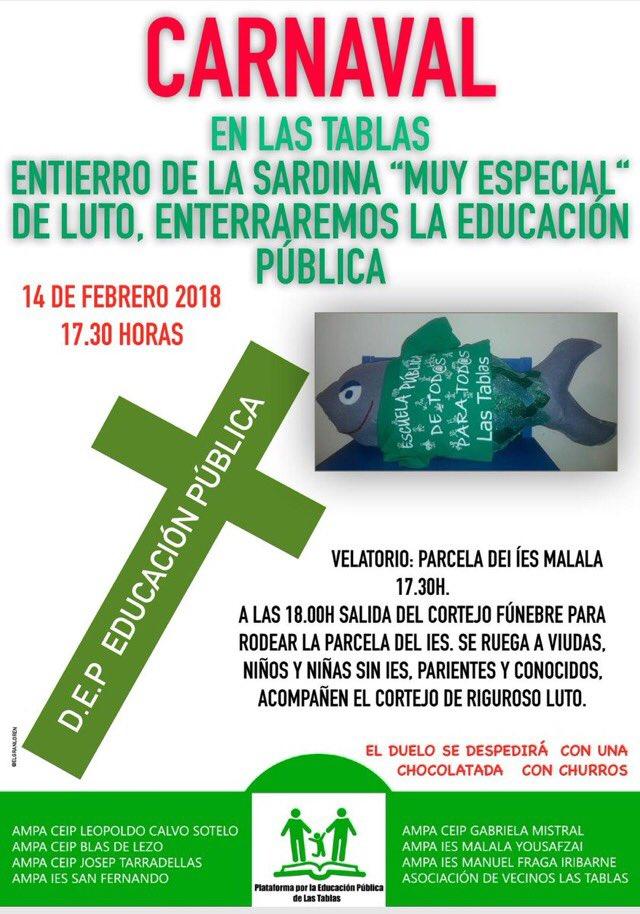 """14 febrero Un entierro de la sardina """"muy especial"""""""