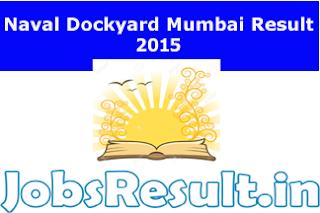 Naval Dockyard Mumbai Result 2015