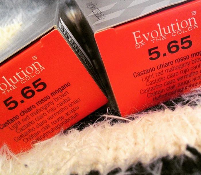 alfaparf, pintura, cabelo, tinta, evolution of the color, 565, castanho claro vermelho acaju