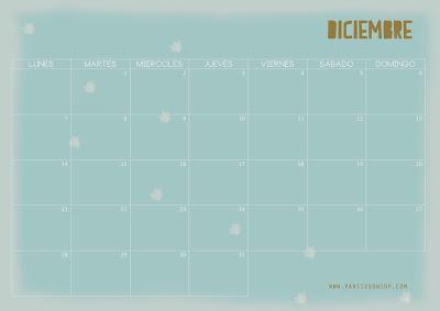 Calendario descargable de Diciembre