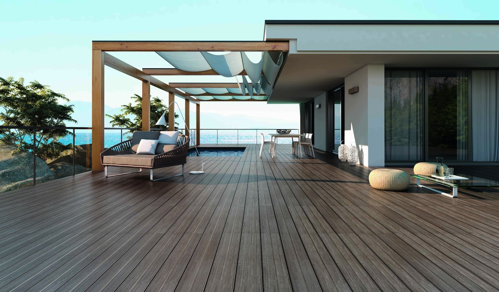 Emc tiles hitting the deck with a ceramic tile wood look - Photo de terrasse moderne ...