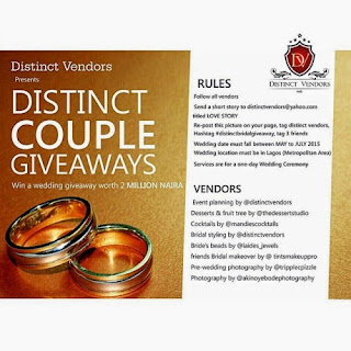 2 Million Naira Lagos Location Wedding Giveaways