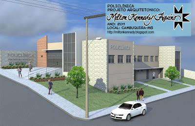 Projeto arquitetônico policlínica Cambuquira