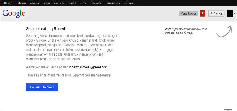 Lanjutkan ke Gmail