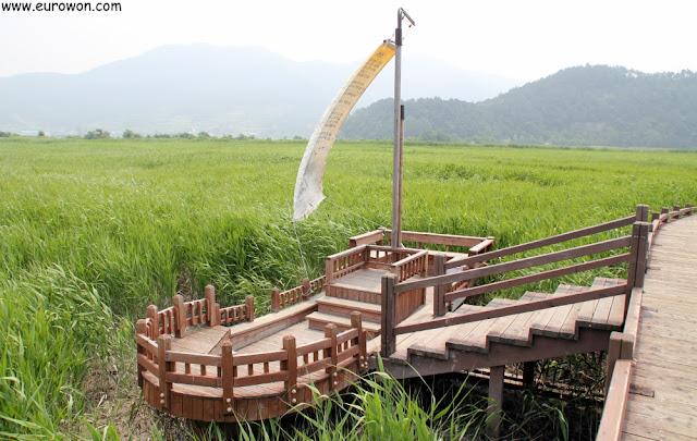 Barco de descanso en la Bahía Suncheonman