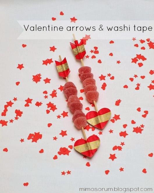 DIY: Flechas con washi tape para San Valentín