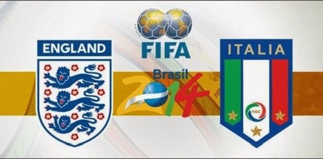 Jadwal Piala Dunia 2014 & Prediksi Inggris vs Italia Minggu, 15 Juni