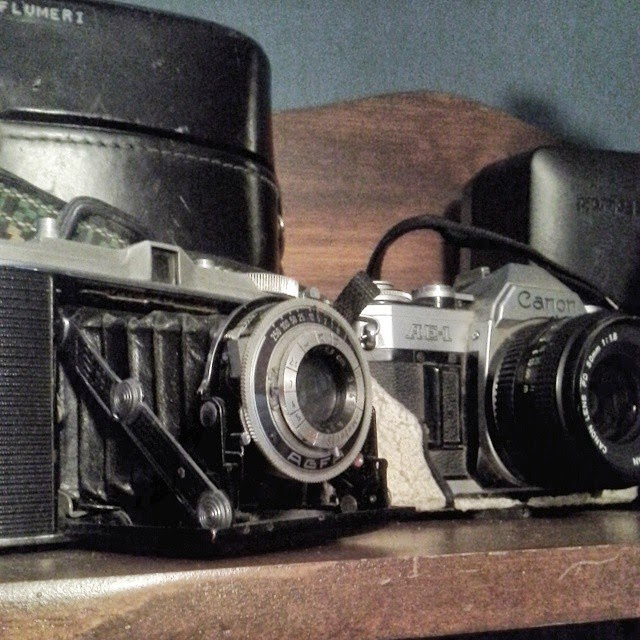 #thriftscorethursday Week 34 | Instagram user: sandpaperglue shows off this Retro Camera Collection