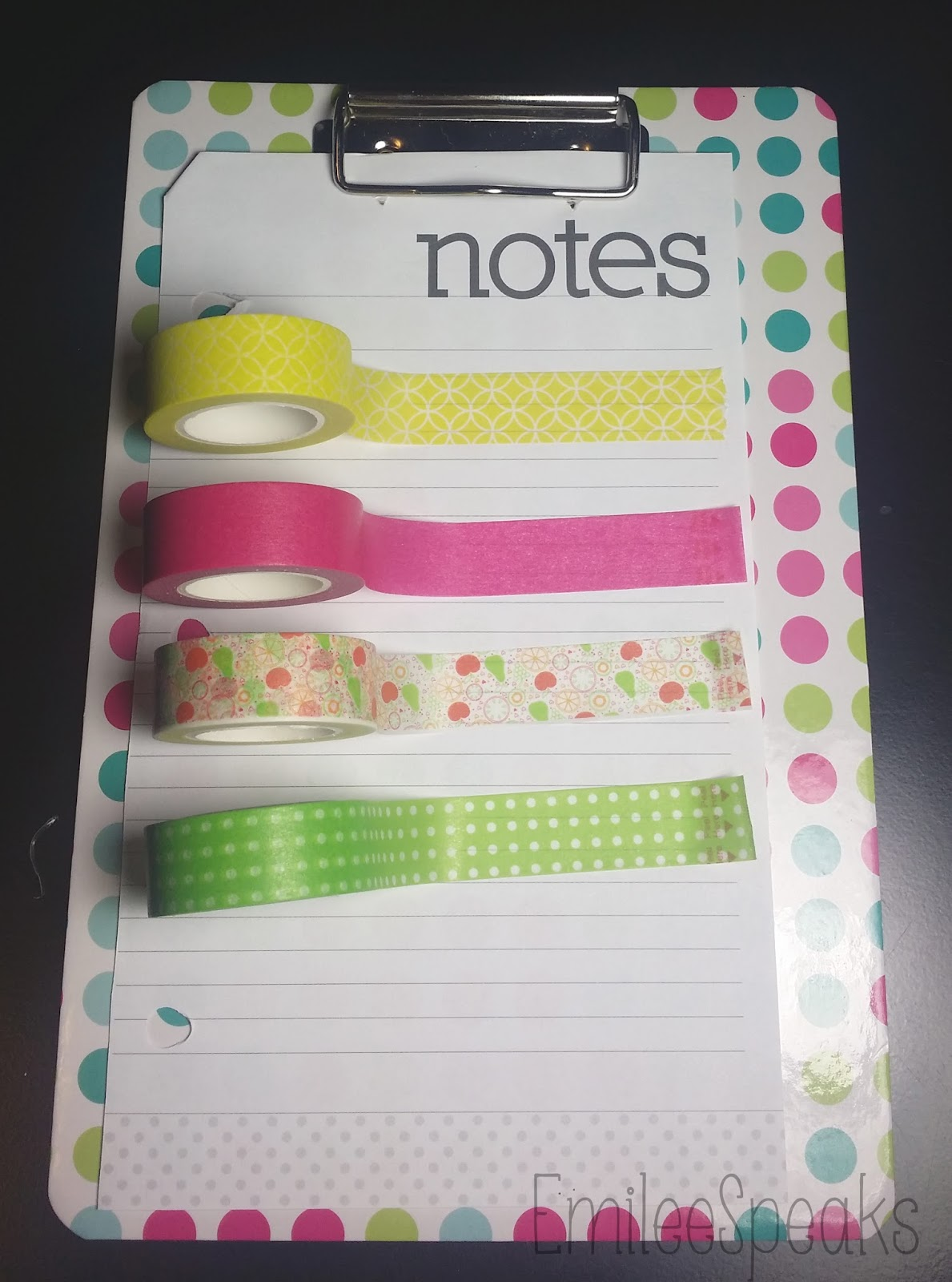 washi tape planner