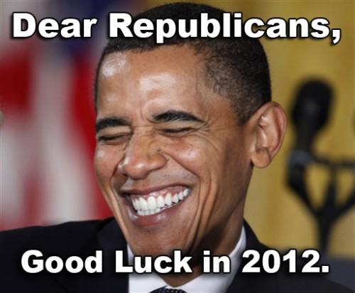 Obama good luck