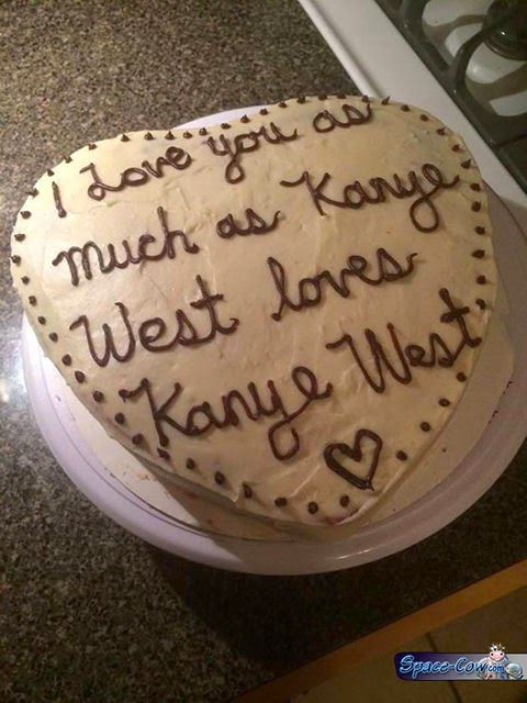 funny messages cake picture