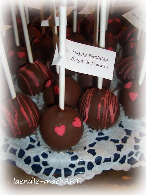 Cakepops Schokolade mit Sprinkles