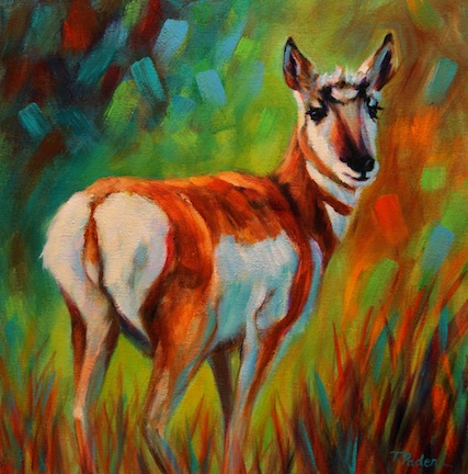 Colorful Animal Paintings Acrylic