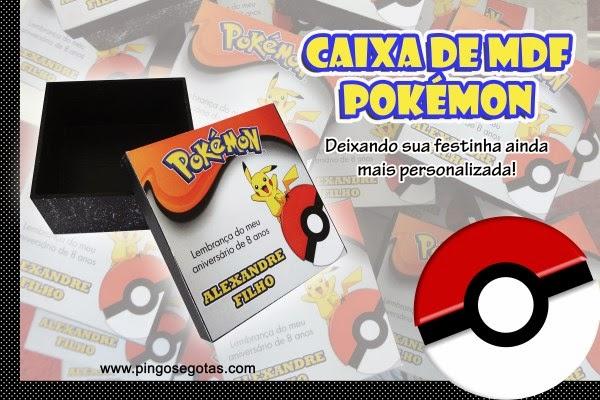 caixa de mdf tema pokemon