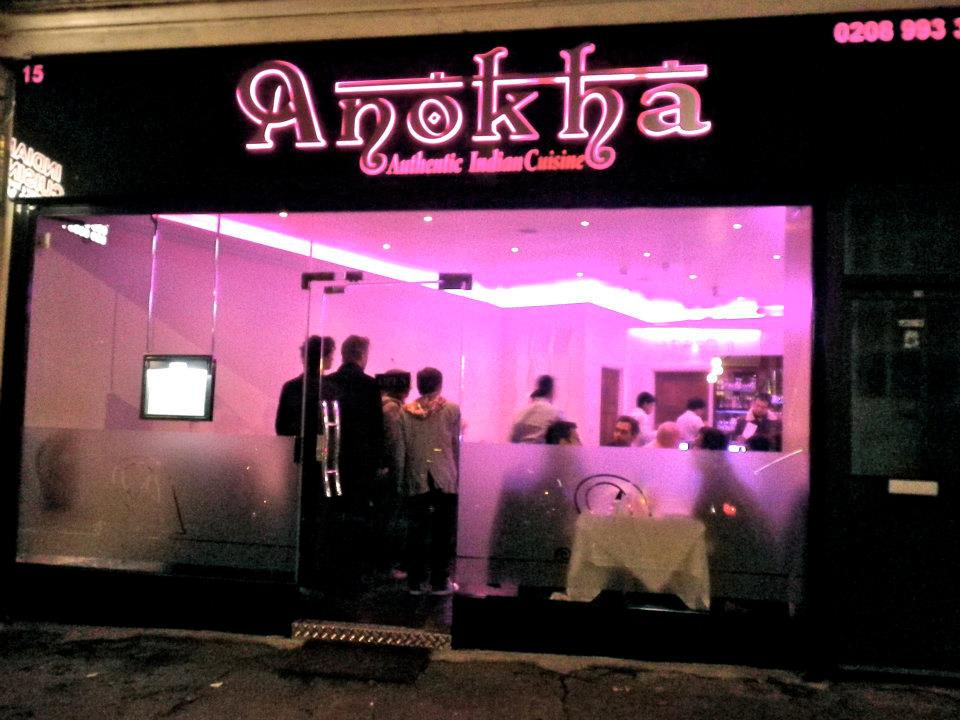 Thoroughly modern milly anokha indian restaurant acton for Anokha cuisine of india