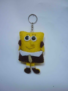 Gantungan Kunci Dari kain Flanel
