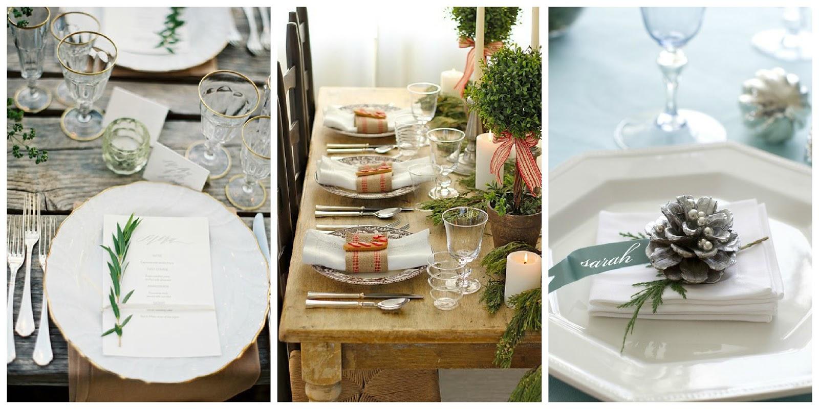 Il giardino di fasti floreali apparecchiare durante le feste la tavola a natale - Una bella tavola apparecchiata ...