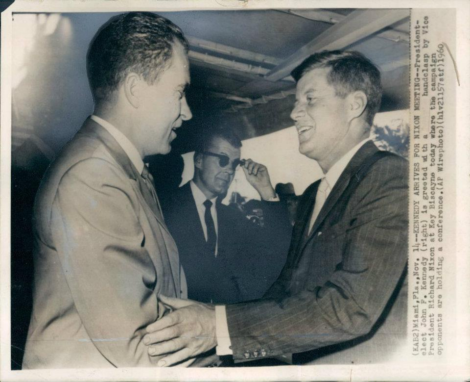 SAIC Behn with Nixon and JFK