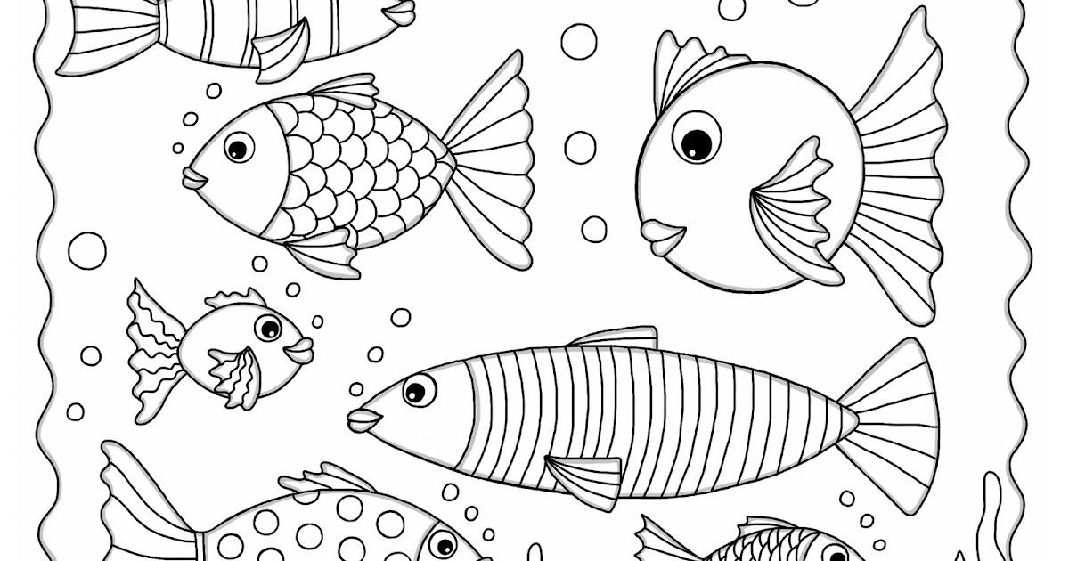 Cocolico creations des poissons d couper pour le 1er - Poisson en dessin ...