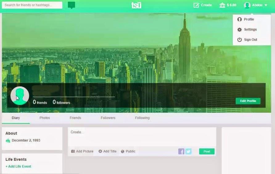 طريقة التسجيل في موقع تواصل اجتماعي (tsu) والربح منه