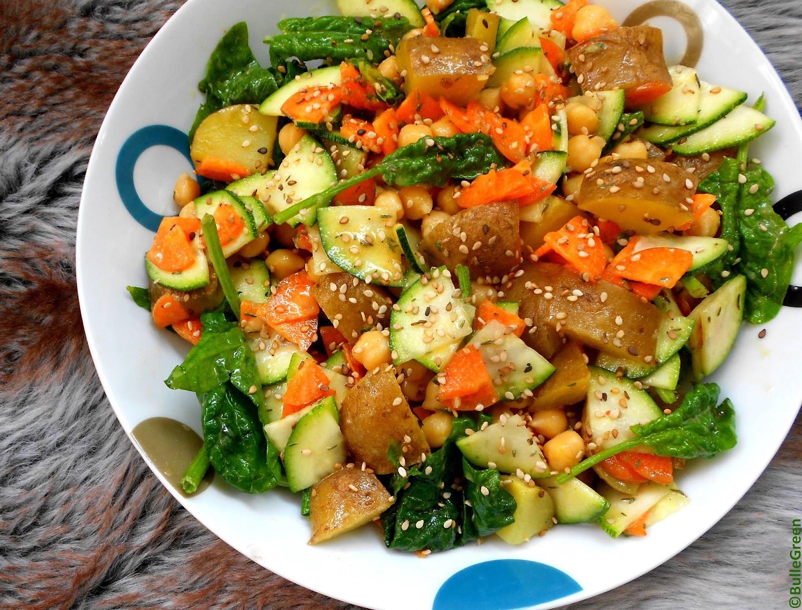 bulle green salade pomme de terre carotte courgette pois chiche. Black Bedroom Furniture Sets. Home Design Ideas