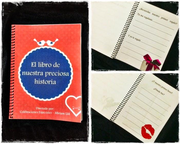 Libro para completar historia amor Celebraciones Especiales Miriam LM