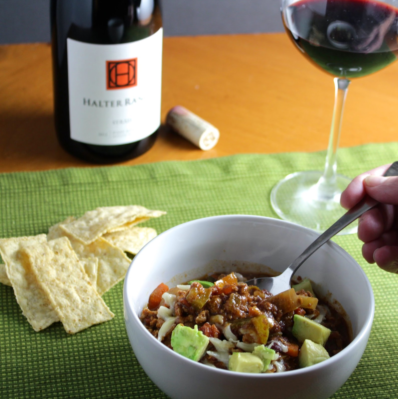 Turkey Chili with Wine Pairing: Halter Ranch Syrah