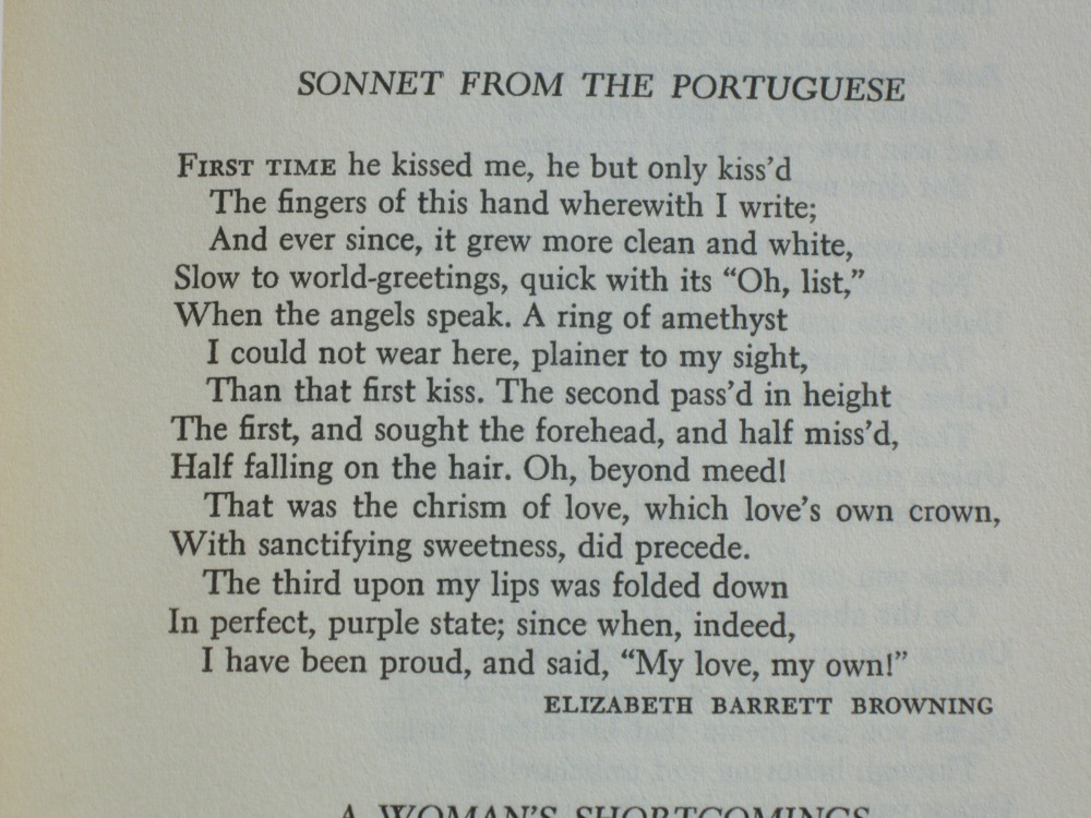 linking sonnets from the portuguese to Book summary elizabeth barrett browning's sonnets to the portuguese are widely considered among the greatest cycle of sonnets in the english language.