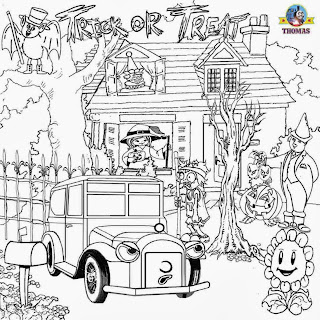 Thomas tank engine Carolina car colouring images for All Hallows Eve printables plants and Zombies
