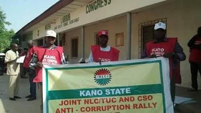 55NLC and Trade Union congress in Kaduna and Kano march for Buhari anti corruption.