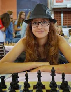 Mathilde Haussernot au championnat du monde d'échecs jeunes  - Photo © FFE