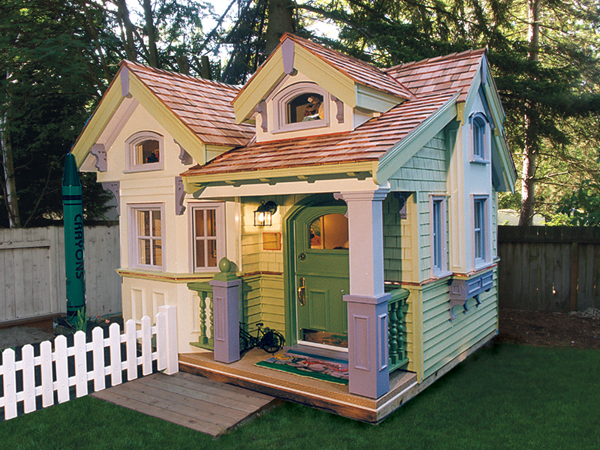 Cottage playhouse plans pdf woodworking for Simple outdoor playhouse plans