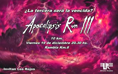 9,75k Apocalipsis Run 3 - Corrida recreativa de fin de año (Rambla, 19/dic/2014)
