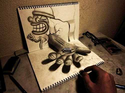 15-NAGAI-HIDEYUKI-Hide-永井-秀幸-3D-Pencil-Drawings-www-designstack-co