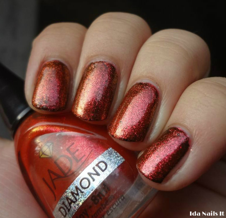 Ida Nails It: Jade Diamond Scarlet and Joy
