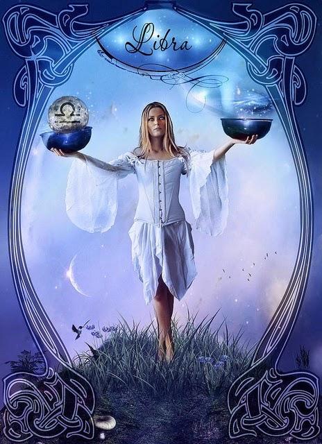 Zodiaco Mujer en equilibrio con su interior, signo Libra
