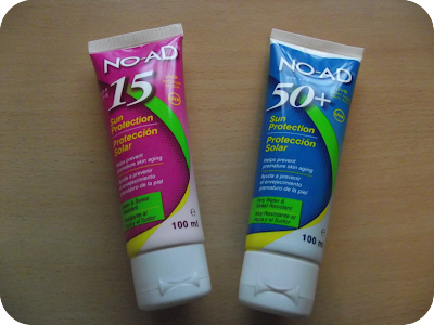 NO AD suncream tubes