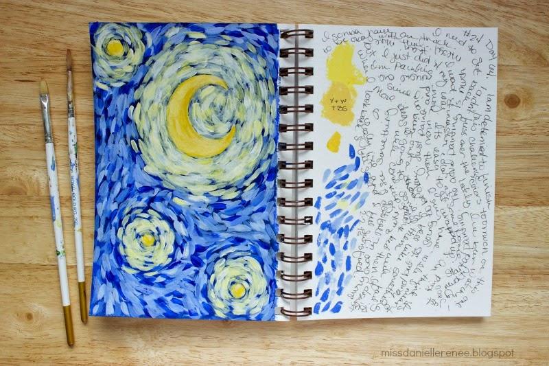 van gogh painting art journal