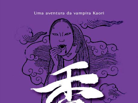 Giulia Moon e Giz Editorial divulgam capa de Kaori e O Samurai Sem Braço!