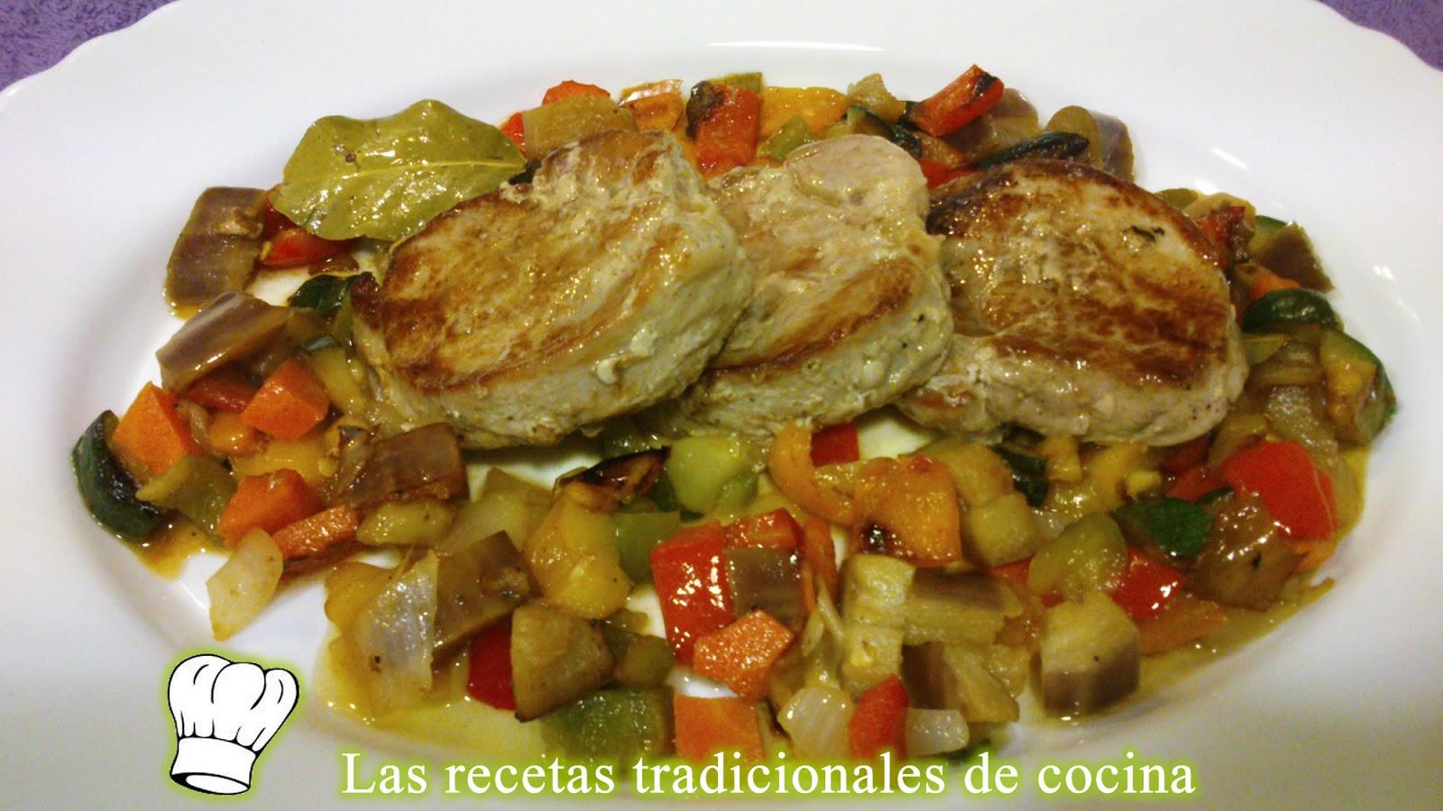 Receta de solomillo ib rico con verduras recetas de - Como preparar un solomillo de cerdo al horno ...