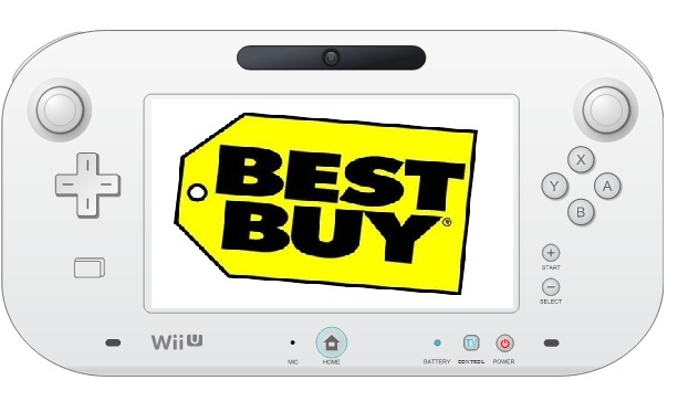 Best Buy logo on Wii U GamePad touchscreen