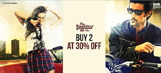 Great Deal: Flat 30% + Flat Additional 20% Off on Purchase of 2 Roadster Fashion Styles at Myntra