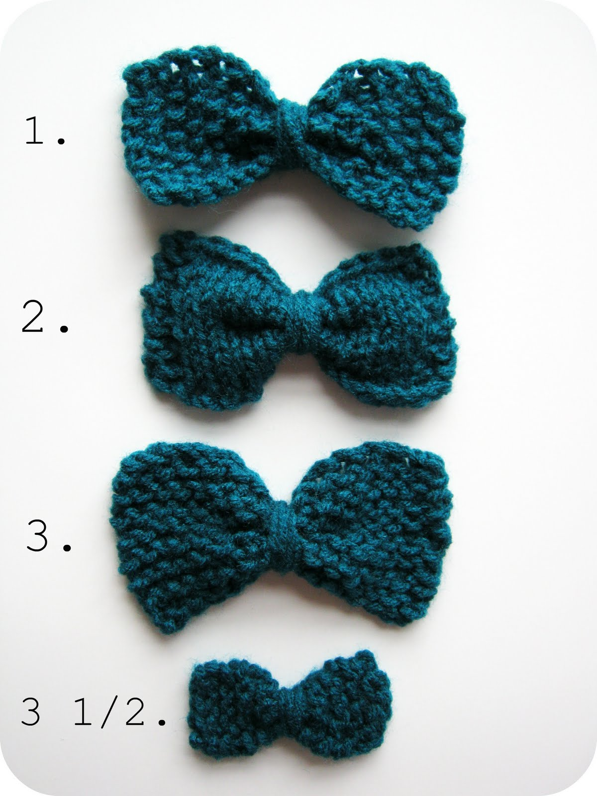 Knitted Bow Pattern : Pattern For A Bow Patterns Gallery