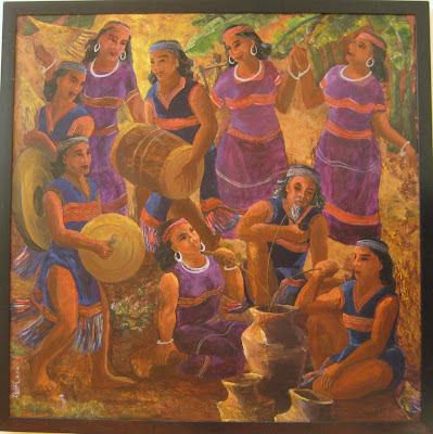 Tác phẩm hội họa về đề tài Tây nguyên 7