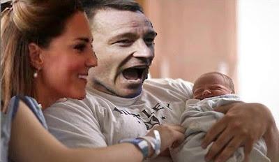 John Terry - The Royal Baby Photobomb! John Terry, Photobomb, celebartion, Wills, Kate, Prince William, George Alexander Louis,
